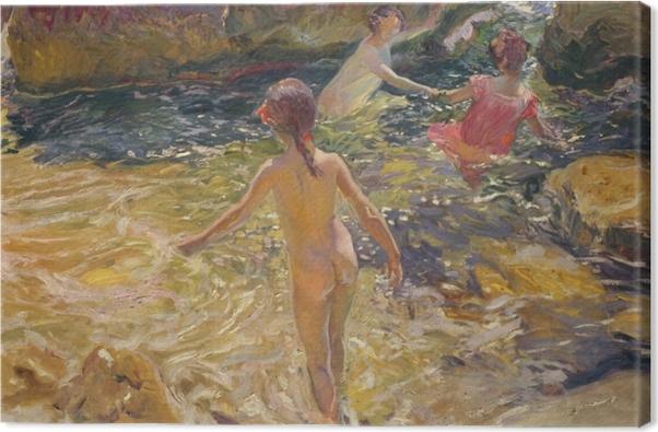 The Bath, Jávea Canvas Print - Impressionism