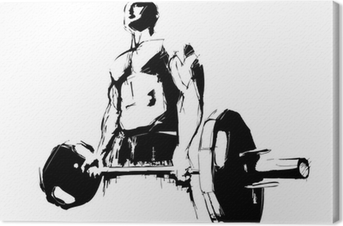 The Bodybuilder Canvas Print