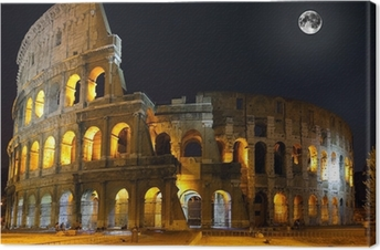 The Colosseum, Rome. Night view Canvas Print