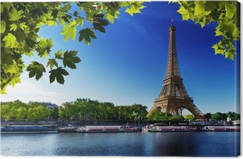 The Eiffel Tower on the Seine Canvas Print