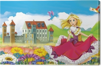 The fairy - Beautiful Manga Girl - illustration Canvas Print