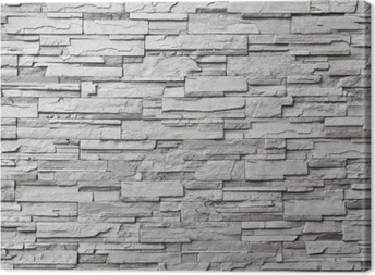 The gray modern stone wall Canvas Print