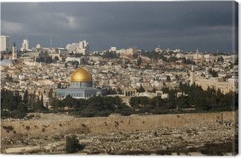 The holy city Jerusalem from Israel Canvas Print