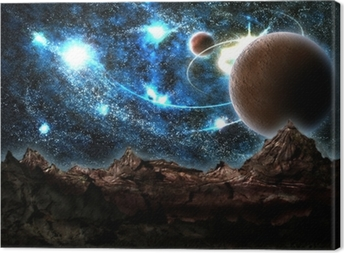 the lost world, planet, cosmos Canvas Print