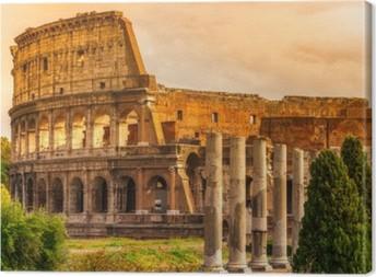 The Majestic Coliseum, Rome, Italy. Canvas Print
