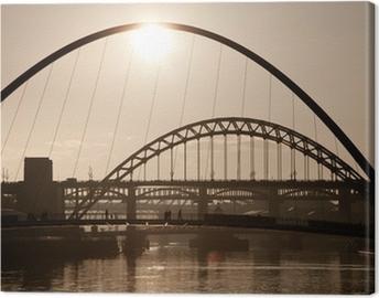 The Millenium and Tyne Bridges. Newcastle Upon Tyne. Canvas Print