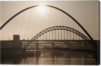 The Millenium and Tyne Bridges. Newcastle Upon Tyne. Canvas Print