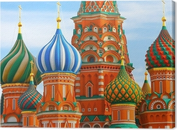 The Most Famous Place In Moscow, Saint Basil's Cathedral, Russia Canvas Print