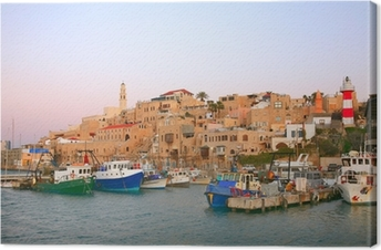 The old port in Jaffa. Tel Aviv Canvas Print
