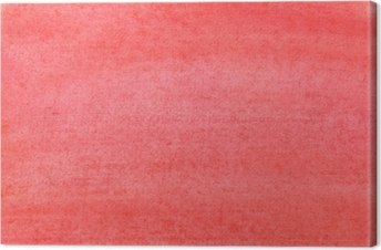 The texture of a sheet of paper painted with red paint Canvas Print