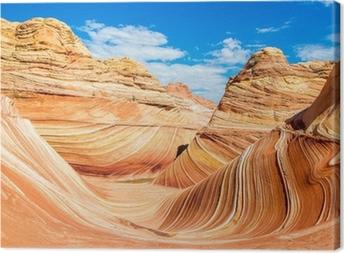 The Wave, Arizona rocky desert Canvas Print