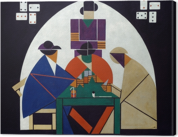 Theo van Doesburg - Card Players Canvas Print - Reproductions
