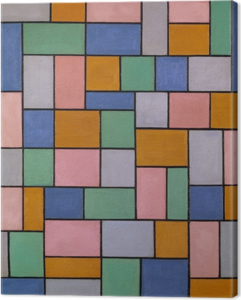 Theo van Doesburg - Compisition in dissonances Canvas Print - Reproductions