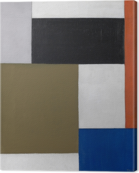 Theo van Doesburg - Composition 1923-1924 Canvas Print - Reproductions