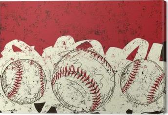 Three baseballs Canvas Print
