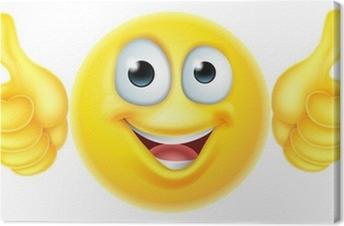 Thumbs up emoticon emoji Canvas Print