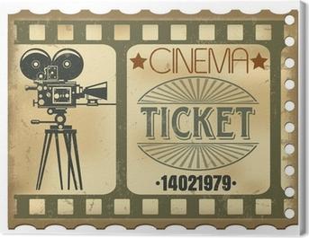 Ticket in cinema Canvas Print