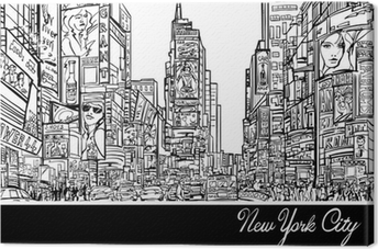 Times Square in New York Canvas Print