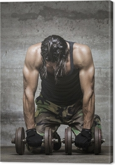 tired muscle athlete Canvas Print