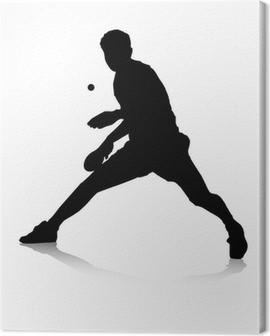 Tischtennisspieler Canvas Print