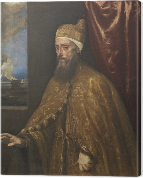 Titian - Portrait of Doge Francesco Venier Canvas Print - Reproductions