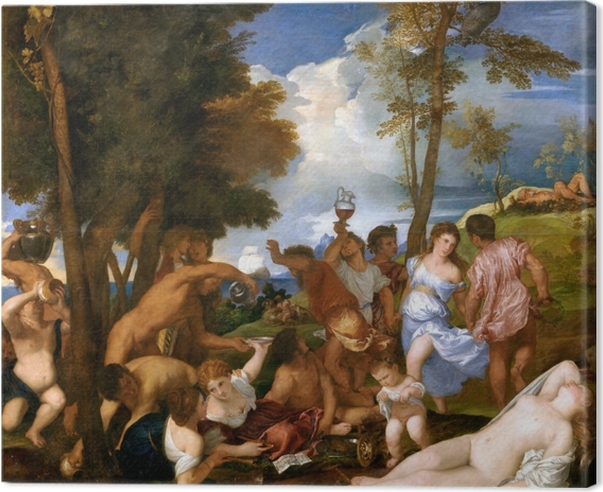 Titian - The Andrians Canvas Print - Reproductions