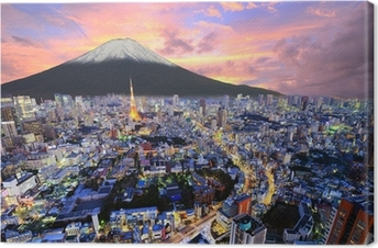 Tokyo and Fuji Canvas Print