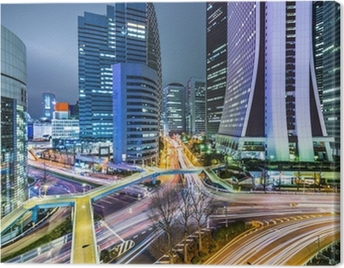 Tokyo Japan at West Shinjuku Skyscraper District Canvas Print