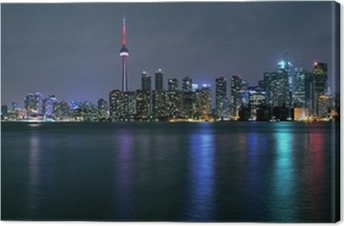 Toronto city at night Canvas Print
