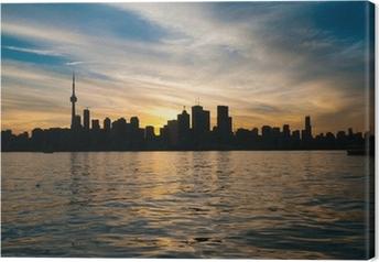 Toronto city skyline at sunset Canvas Print