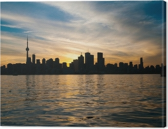 Toronto city skyline at sunset Canvas Print