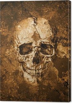 Totenkopf Hintergrund Canvas Print