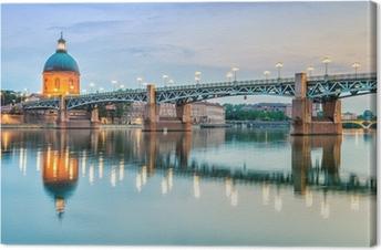 Toulouse - Hôpital de La Grave et Pont Saint-Pierre Canvas Print