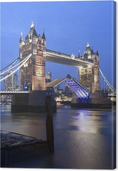 Tower Bridge at night, London. Canvas Print