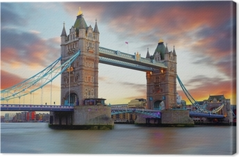 Tower Bridge in London, UK Canvas Print