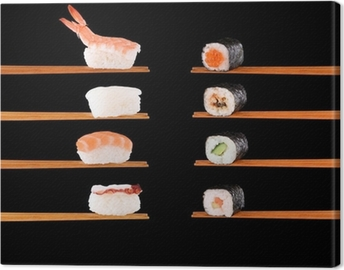 Traditional Japanese food Canvas Print