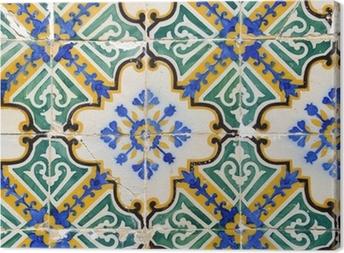 Traditional portuguese tiles, Azulejos Canvas Print