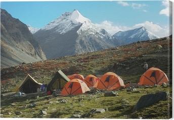 Trekking camp Canvas Print