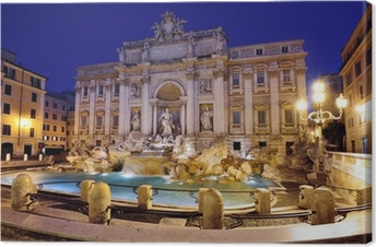 Trevi Fountain, Rome Canvas Print