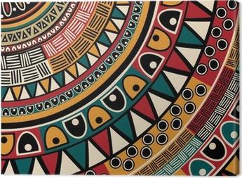 Tribal ethnic background Canvas Print
