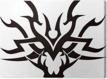 Tribal Tattoo Face Vector Clipart Design Canvas Print