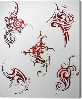 6c09a02c9 Maori tattoo pattern - Eagle Canvas Print • Pixers® • We live to change