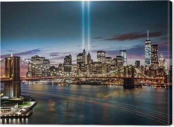Tribute in Light memorial on September 11, 2014 Canvas Print
