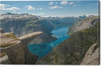 Trolltunga, Troll's tongue rock, Norway Canvas Print