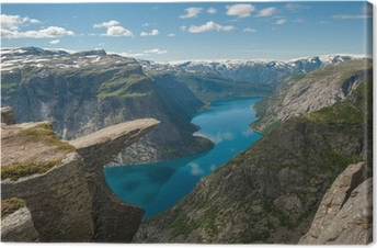Trolltunga, Troll's tongue rock, Norway Canvas Print