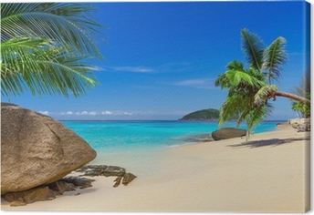 Tropical beach scenery in Thailand Canvas Print