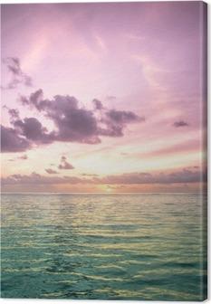 Tropical blue sea water in Maldives Canvas Print