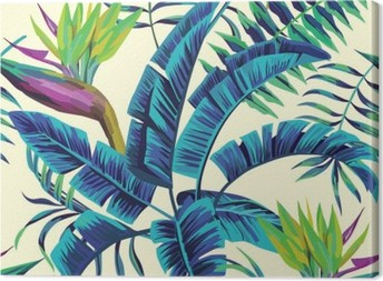 Tropical exotic painting Canvas Print