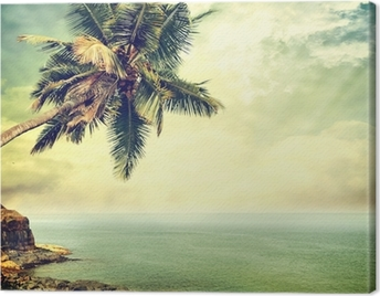 Tropical island Canvas Print
