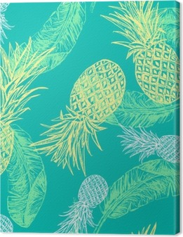 Tropical seamless pattern Canvas Print